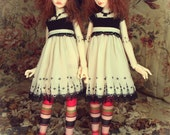 "Fashion for SD Size BJD Girls -- ""Jett & Pearl"""