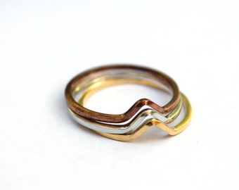Vintage stacking rings size 7 - SILVER ONLY (3)