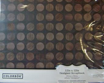 Scrapbook Album Brown Dot 12x12 by COLORBOK - kitsnbitscraps