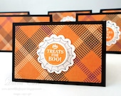 Halloween Treat Bags and Toppers (Set of 12) - Halloween Party Favors
