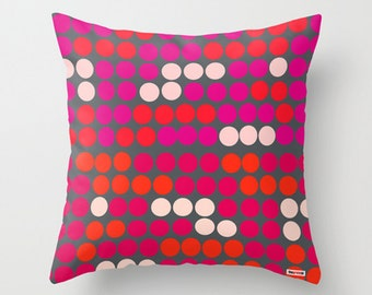 Decorative throw pillow cover - Colorful pillow cover - Dots pillow cover - designer pillow cover - Modern pillow cover