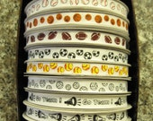 "50% OFF-- 3/8"" FULL ROLL of Sport Print Grosgrain Ribbon--25 yards--Ready to Ship--Limited Prints Available"