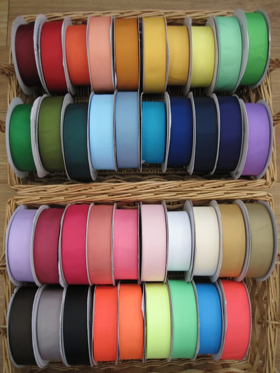 """NEW COLORS--2"""" Solid Grosgrain RIbbon--5 yards--You Choose Colors--42 Colors to Choose From"""