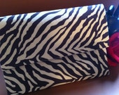 REDUCED PRICE!!!  SALE!!!  Zebra Print Envelope Clutch