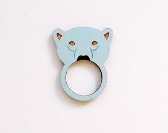 Polar Bear Wooden Ring
