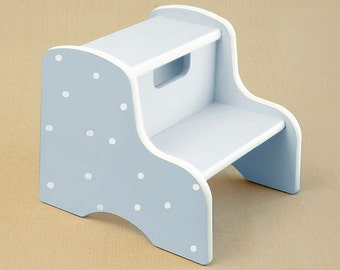 white dot step stool