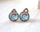 Bunny rabbit clip earrings sweet lolita feminine kawaii