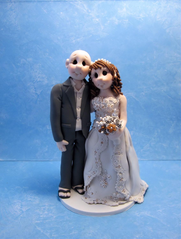 Custom wedding cake topper Bride and groom cake topper