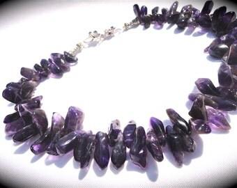 ametyhst geode necklace