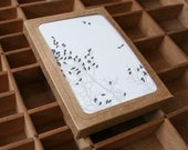 letterpress birds roost boxed set of 6 cards
