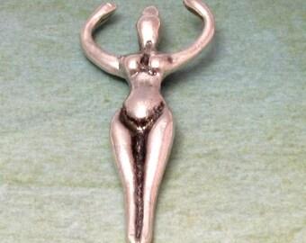 Goddess Pendant, Pewter, Mykonos Casting, 50x20 MM, M232