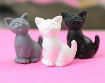 Assorted Happy Cats - 3 Colors - Set of 4 - 203-3-212-MIX