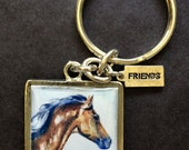 Horse Art   Original Print Art in a Key Chain