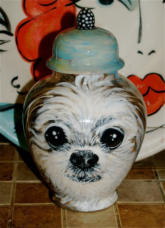 Custom small medium PET URN for dogs and cats SMALL Shih Tzu or any smaller breed