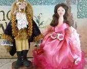 Beauty and the Beast Doll Fairy Tale Art Miniatures