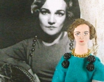 Katherine Anne Porter Author Doll Miniature LIterary Collectible