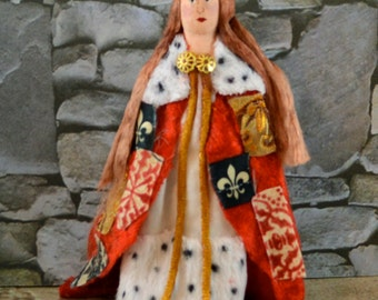 Queen Anne Neville Doll Historical Miniature Art Character