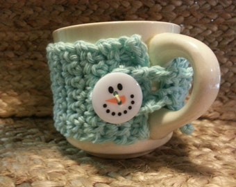 Frosty Blue Cup Cozy
