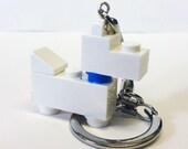 Mini White Scottie Dog Key chain