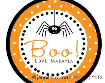 SALE! Halloween Spider STICKERS / Cupcake Topper / labels /Thank You Tag / various sizes / party favors