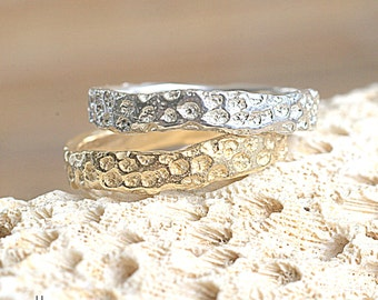 14k Gold Coral Band | 14k Yellow Gold | Nature Inspired Ring