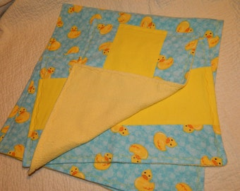 Little Duckie Receiving Blanket and Burp Cloth set