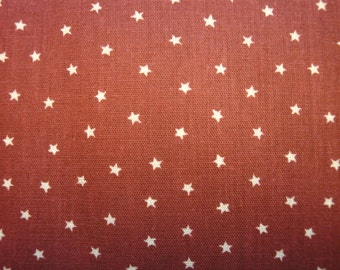 Star Material | Calico Material Wine With Stars | 68 x 44