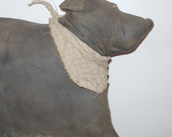 Baxter, A Primitive Folk Art dog pattern from Raven's Haven