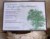 Oak Tree Wedding Invitations, Plantable Paper, Barn Wedding Invitation, eco friendly wedding