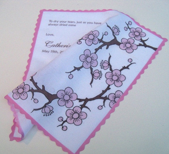 Mother of the bride wedding gift, personalized wedidng handkerchief ...