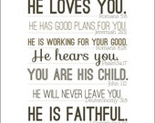 He loves you....8 by 10 print