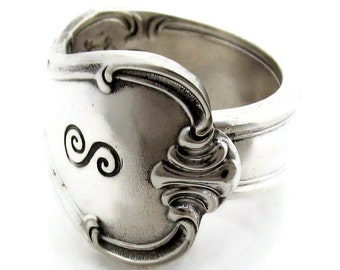 Spoon Ring Signature Pattern With an S monogram Vintage