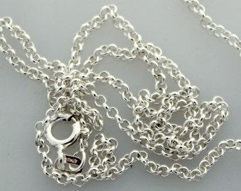 """Chain Rolo Sterling Cable Chain 2mm 16"""""""
