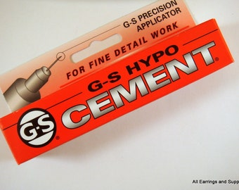 Adhesive, G-S Hypo Cement 1/3 Fluid Ounce Precision Tip Applicator - 1 pc - MS11037-GSH1