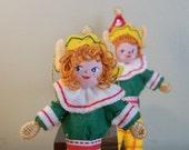 Art Dolls and Miniatures Santa's Helper Christmas Doll Hanging Ornament