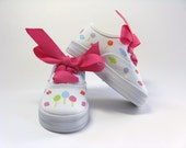 Lollipop Shoes, Candy Theme Birthday Party Sneakers, Candy Party Outfit, Hand Painted for Baby and Toddler