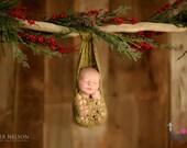 Newborn Portrait Crochet Heavenly Stork Pouch Sling - Handmade Photography Prop