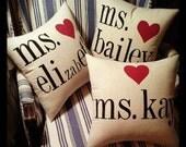 My Favorite Teacher pillow