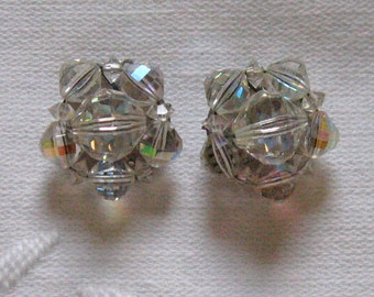 Austrian Crystal Earrings . Cluster Crystal Earrings . austrian crystals . crystal earrings