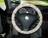 SALE Brown and Oatmeal Steering Wheel Cover
