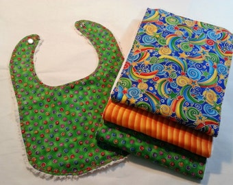 Set of Three Burpies with Matching Bib