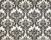 TABLE SQUARE Damask Table Square for centerpiece Madison Black on white