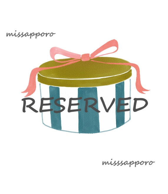 RESERVED for SarahxLorraine March 25