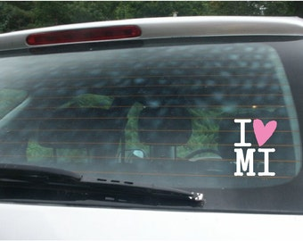 Michigan - V19  Vinyl Car Window Decal