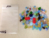 Various colors flat circle oval glass beads