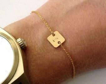 Square Monogram / Initial  Bracelet