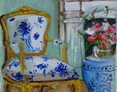 A Blue and White Beauty Fine Art Print