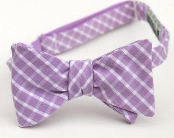 lilac lattice freestyle bow tie