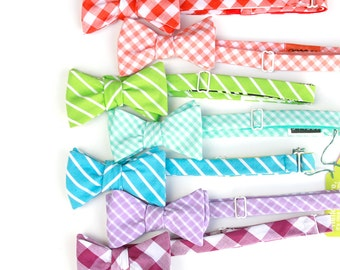 ON SALE rainbow bow tie set