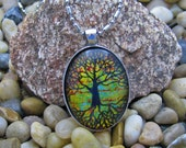 Tree of Life - Original Watercolor Pen and Ink - Necklace Pendant